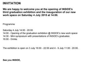 Invitation Graduation Exhibition